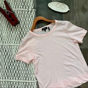 Theory Tilma Sea Slub Tee in Rose Pink